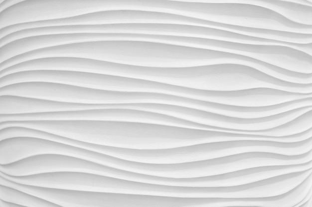 Texture white gypsum wave