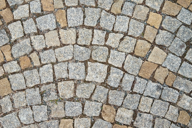 古い舗装石のテクスチャレンガと抽象的な背景