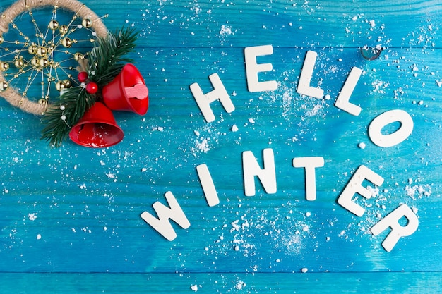 Texture with winter mood. background with lettering