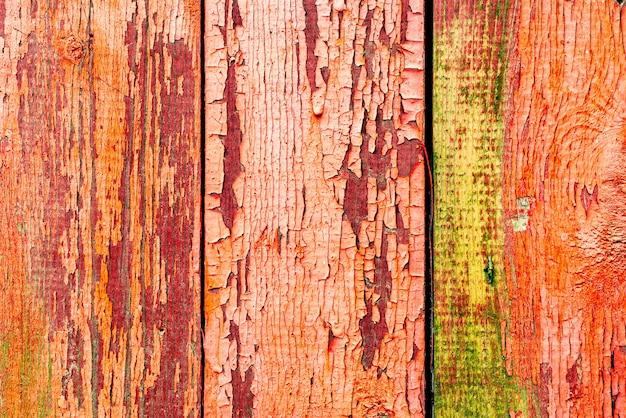テクスチャ、木、壁、背景。傷やひび割れのある木の質感