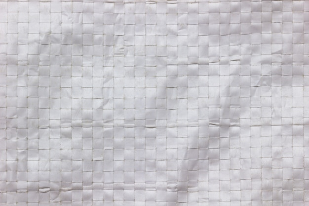 Texture and wrinkles of white plastic net bag.