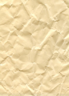 Texture yellow crumpled glossy paper