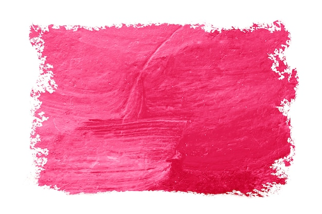 Textured abstract red pink paint brush for background.
