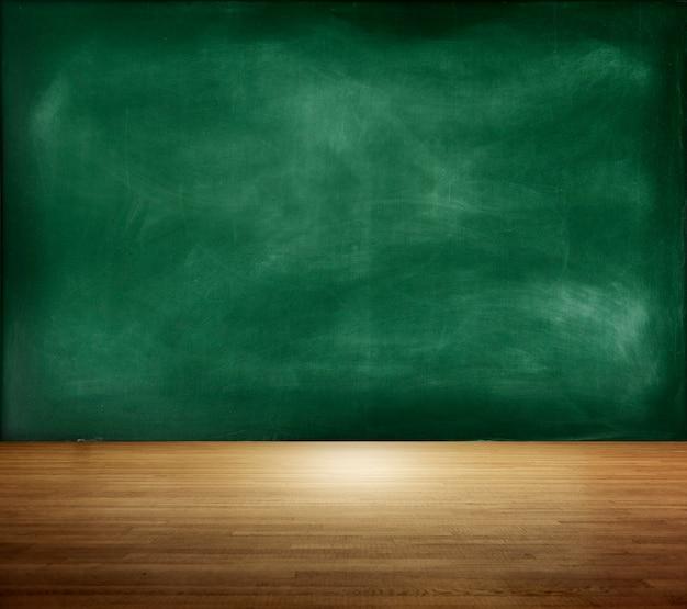 Textured blackboard on an empty room