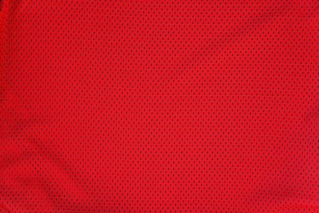 Textured bright red mesh fabric
