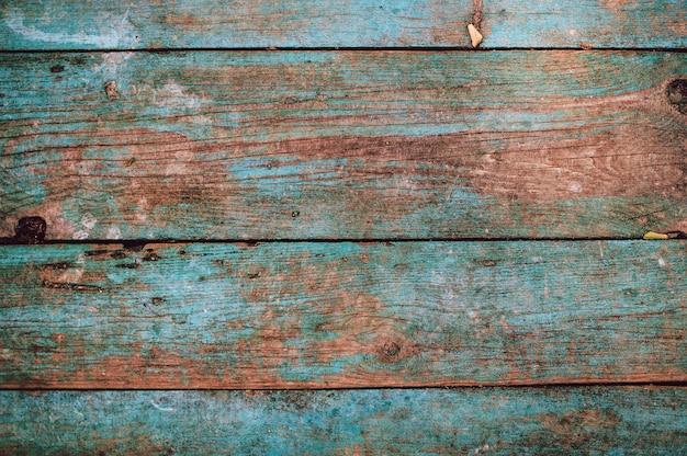 복사 공간이 있는 청록색 헛간 배경의 나무 판자의 질감 디자인