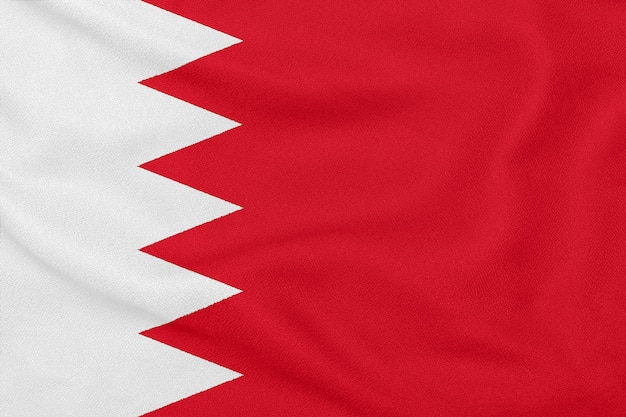 Фактурная ткань с флагом бахрейна