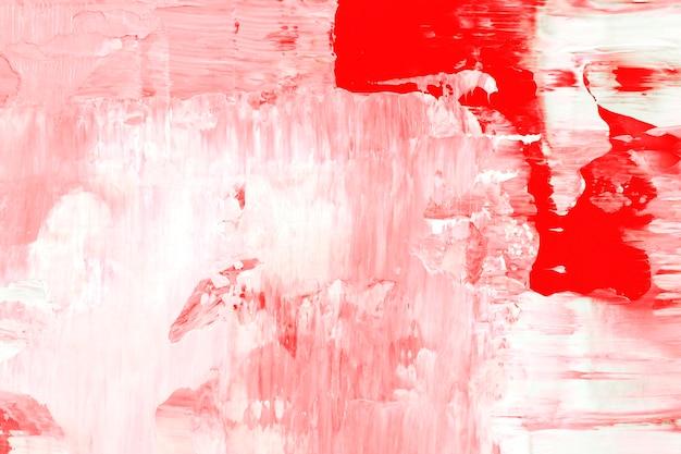 빨간색 아크릴 페인트의 질감된 페인트 배경 벽지