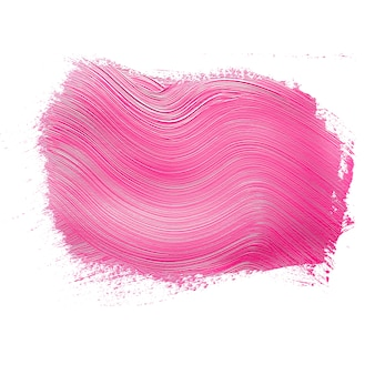 Textured pink paint brushstroke