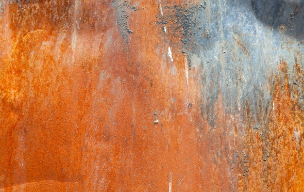 Textured red rust wall background, aged vintage surface, horizontal.