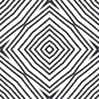 Текстурированный образец полос. черный симметричный фон калейдоскопа. модный дизайн с текстурированными полосками. текстиль готов с потрясающим принтом, ткань для купальников, обои, упаковка.