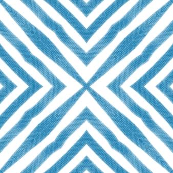 Текстурированный образец полос. синий симметричный фон калейдоскопа. готовый текстиль, безупречный принт, ткань для купальников, обои, упаковка. модный дизайн с текстурированными полосками.