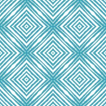 Текстурированный образец полос. бирюзовый симметричный фон калейдоскопа. готовый текстиль, завораживающий принт, ткань для купальников, обои, упаковка. модный дизайн с текстурированными полосками.