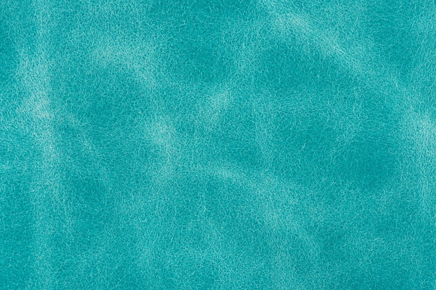 Textured turquoise suede leather