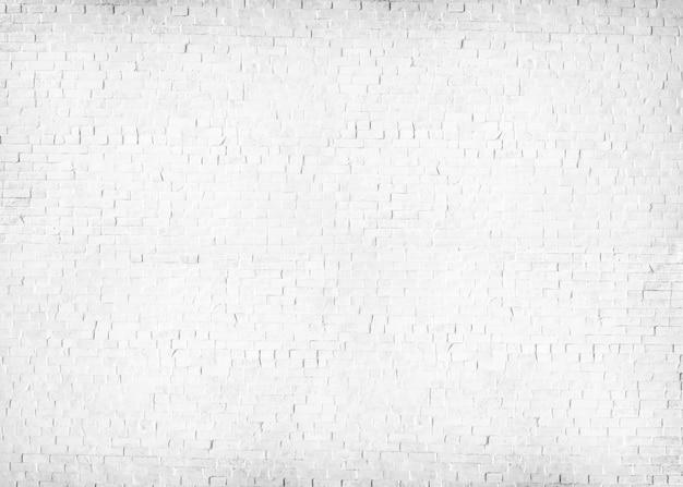 Muro di mattoni verniciato bianco strutturato