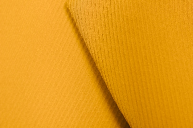 Textured yellow collar close-up