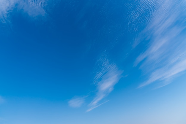 Textures surface pattern fresh bright colorful and beautiful of white clouds on blue sky.