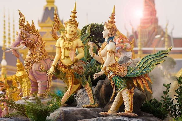 Thai art literature or himmapan story at merciful sanam luang in bangkok city,thailand