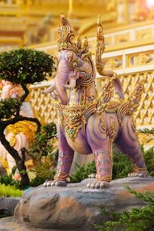 Thai art literature or himmapan story at merciful sanam luang in bangkok city,thailand