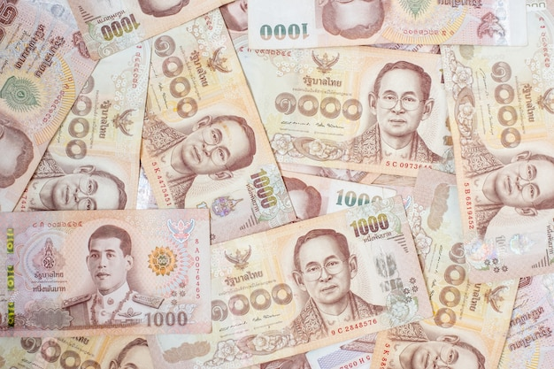 Thai baht banknote. business, investment, finance