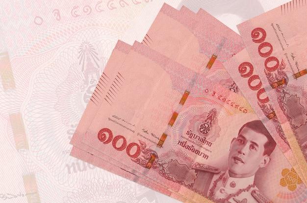 Thai baht bills lies in stack
