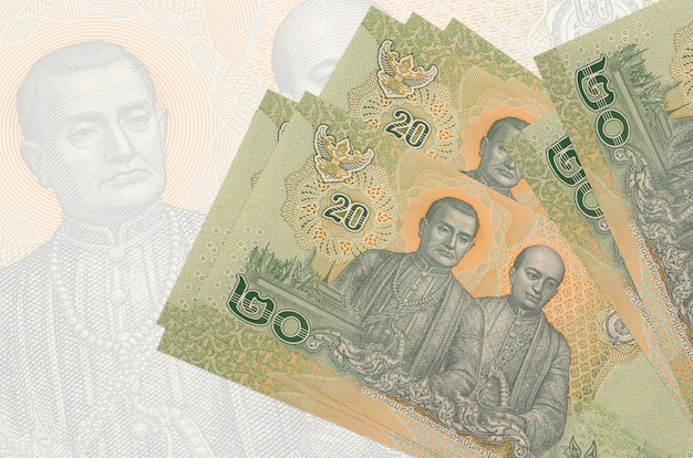 흰색 바탕에 태국 바트 지폐