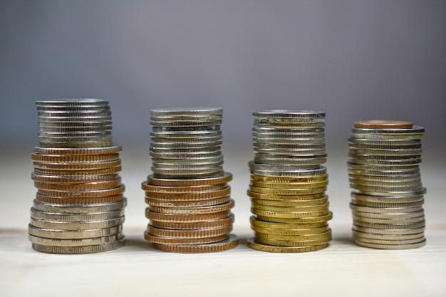 Thai baht coins is on table
