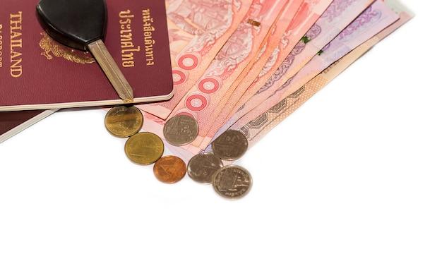 Thai banknotes and electronic thai passport