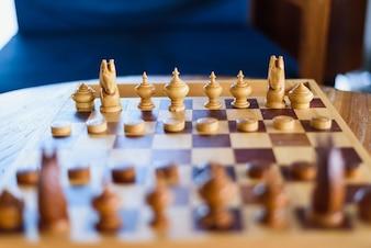 Thai chess on wood table