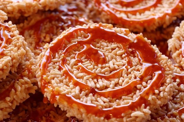 Thai crispy rice cracker