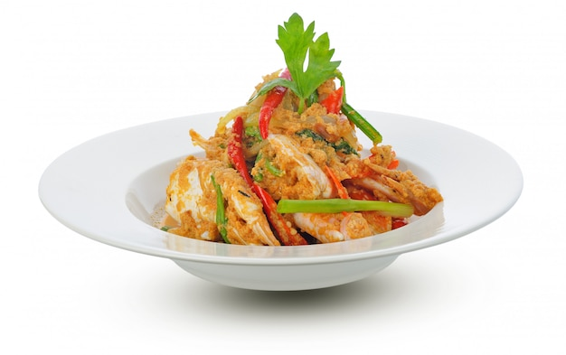 Thai cuisine, fried crab with curry powder