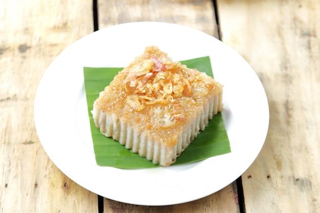 Thai dessert, coconut custard squares.