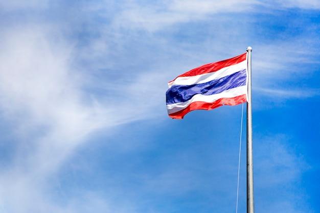 Thai flag on pole