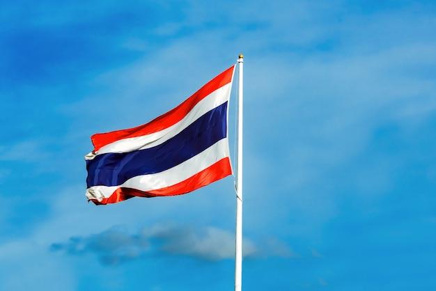 Thai flag behind sky