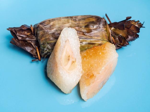 Thai food bananas with sticky rice