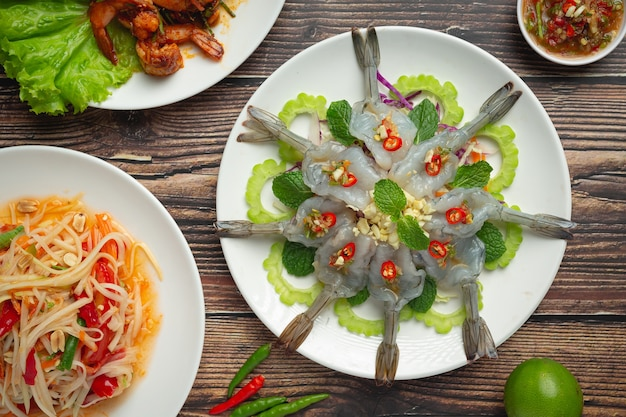 Thai food;shrimp in spicy fish sauce