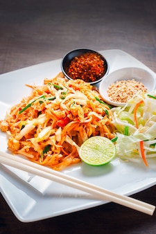 Thai food, Stir fried noodles from Thailand call  Pad Thai""
