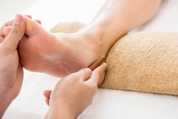 Thai foot massage with aroma therapy and reflexology