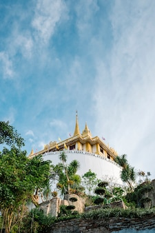Thai gold mountain temple