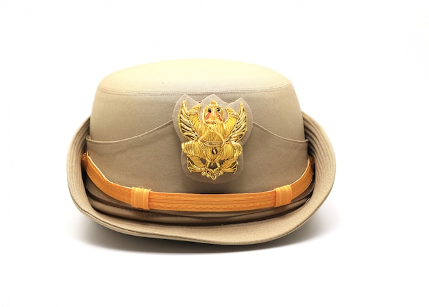 Thai government official hat with garuda symbol