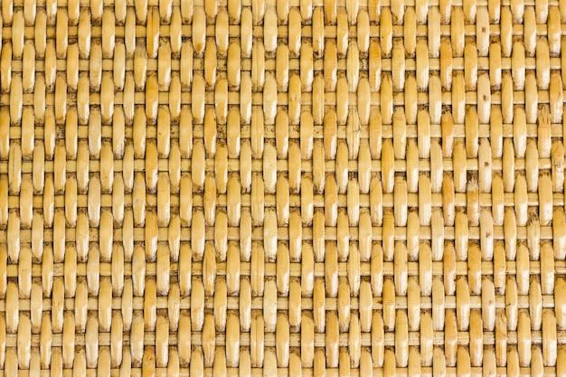 背景の使用のための竹織りパターンのタイの手工芸品