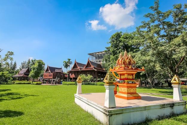 Thai house style at salaya, bangkok, thailand