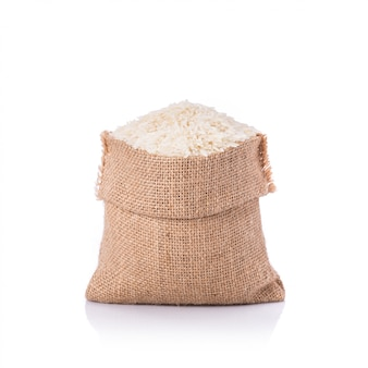 Thai jasmine rice in small sack