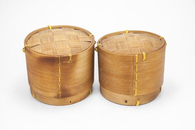 태국 라오스 대나무 찹쌀 컨테이너 흰색 절연