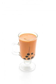 Thai milk tea with bubble