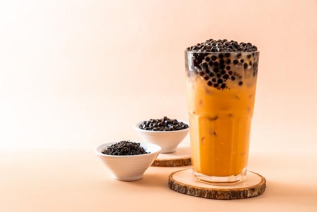 Thai milk tea with bubbles