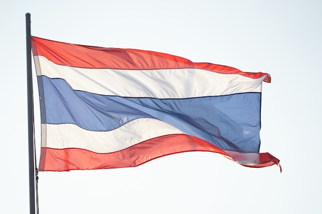 Thai national flag in wind wave movement