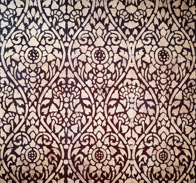 Thai pattern background from general place wall.
