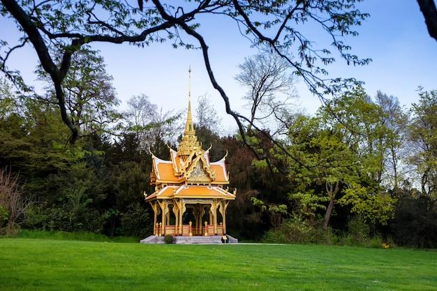 Thai pavilion in lausanne, switzerland Premium Photo