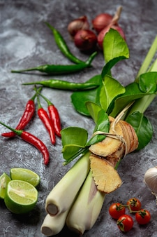 Thai red curry paste spices